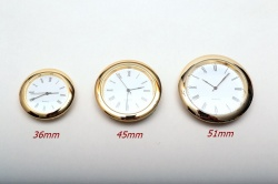 Metal Bezel Insert Clocks